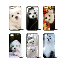 For Huawei Ascend P6 P7 P8 P9 P10 Lite Plus 2017 Honor 5C 6 4X 5X Mate 8 7 9 I Love My Maltese dog White Cute Dogs Phone Case