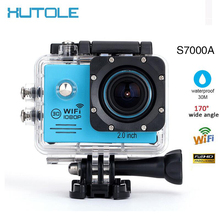 "S7000A WiFi FHD 1080P 30FPS Action CAM Sport Digital Camera 2.0"" LCD Diving 30M Waterproof Helmet Mini Camcorder DVR FPV Aerial"
