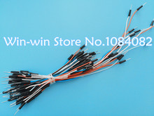 65pcs=1set Jump Wire Cable Male to Male Jumper Wire for Arduino Breadboard