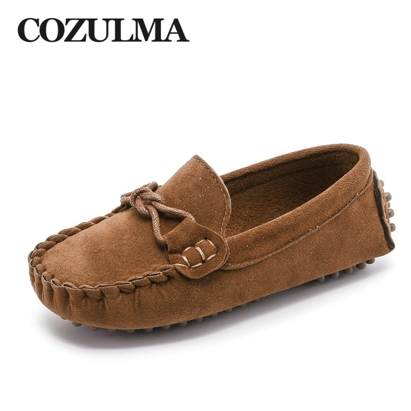 COZULMA Kids Moccasin Loafers Shoes Boys Fashion Sneakers Children Massage Casual Shoes Kids Girls Flat Leather Shoes Size 21-35