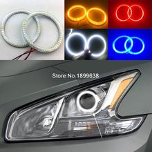 Super bright red blue yellow white 3528 smd led angel eyes halo rings car styling for Nissan Maxima 2010 2011 2012(China)