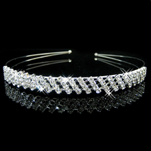 Fashion Wedding Tiaras and Crowns Full Crystal Rhinestone Headbands Bridal Hairband Princess Hair Accessories