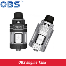 E Cigarettes OBS Engine RTA RBA Tank 5.2ml Top Filling and Airflow Never Leak out isolated Rebuild Deck OBS Engine Atomizer