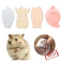 Small Pet Animal Fruit Shape Minerals Molar Stone Carrot-shaped Pet Molar Stone Chew Toys for Chinchilla / Hamster / Guinea Pigs