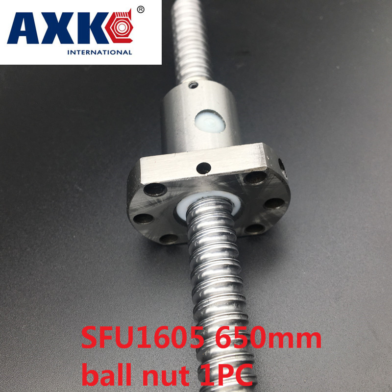 AXK  SFU1605 650mm RM1605 650mm C7 Rolled Ball screw 1pc+1pc ball nut for SFU1605<br>