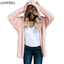 Casual knitting long cardigan sweater women Loose knitted cardigans female hooded jumper 2017 warm autumn winter pull femme(China)