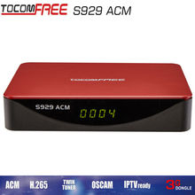 Twin Tunner Receptor de TV Satellite Receiver IPTV SKS IKS TOCOMFREEs929ACM with newcam cccam powervu for South America(China)