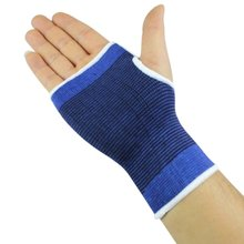 2 PCS Wrist Hand Support Glove Weightlifting Protect Palm Elastic Brace Sleeve Sports Bandage Gym Wrap