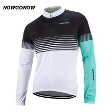 2017 cycling jersey long sleeve black Light blue white Retro team clothing bike wear hot road maillot ciclismo NOWGONOW