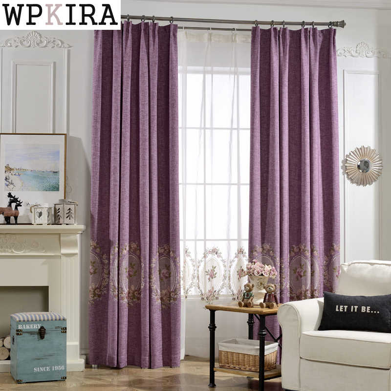 Luxury Curtain Fabric Modern Floral Tulle Window Treatments Sheer Curtains Living Room Bedroom Kitchen Satin Curtain 295&20