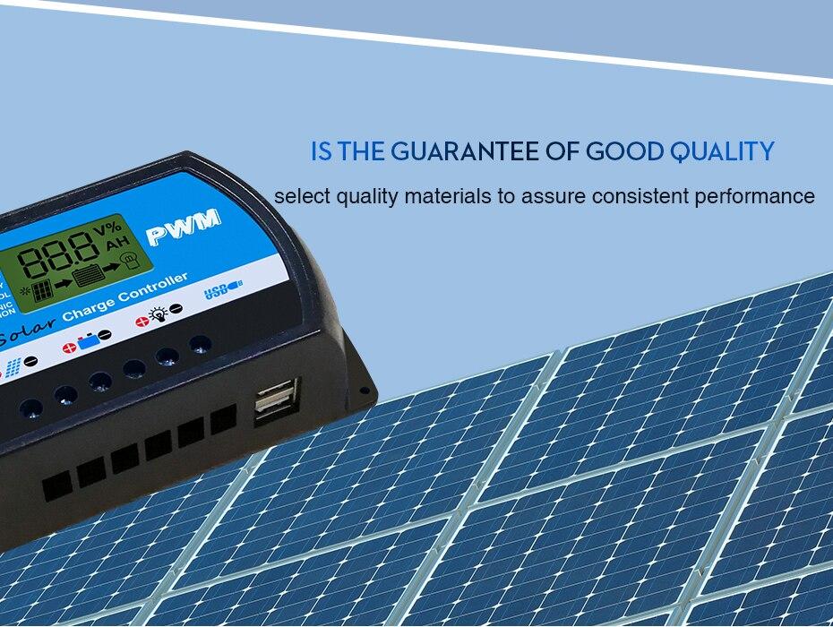 EASUN POWER Solar Controller 40A 12v 24v PWM Solar Charge Controller ICharger PWM 2440-R DES-7