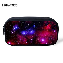 INSTANTARTS 3D Universe Space Galaxy Print Pencil Bags for Children Girls Storage Bag Brand Designer Women Travel Cometic Bags(China)