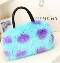 Winter new women's bag Korean version of the autumn and winter fur candy color cute imitation rabbit fur shoulder Messenger