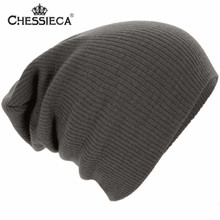 CHESSIECA Fashion Warm Solid Color Beanie Hat Bonnet Cap Knitted Skullies & Beanies Gorros Bonnet Femme Balaclava Stocking Hats