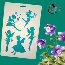 Angels Layering Stencils for DIY Scrapbooking/photo album Decorative Embossing DIY Paper Cards Crafts
