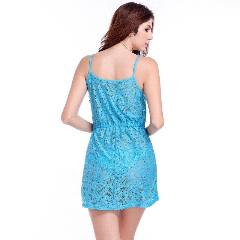 17 Adjustable Spaghetti Dress Tunic for Beach Slim Fit Waist Wrinkle Cover-Ups Sexy Women Plus Size Lace Tunic Beach Dress 15