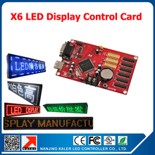 kaler X6 programmable scrolling message led control card infinite width infinite program led display sign control cards