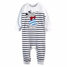 Baby Clothing Baby Boys Romper Long Sleeves Comfortable Baby Pajamas Newborn Baby Boys Clothes 100% Cotton(China)