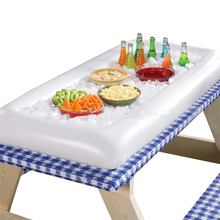 Inflatable Serving Bar Cooler Buffet Salad Food Drink Tray Ice Cooler Picnic Drink Table For Party Picnic Storage Trays 971047(China)