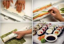 2017 New Sushezi Roller Kit Sushi Rolls Made Easy Sushi Bazooka Sushi Maker Roller Set Kitchen Accessories.