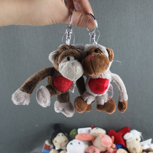 50pcs/lot Wholesale NICI Plush Toys Doll NICI Plush Pendant Keychain
