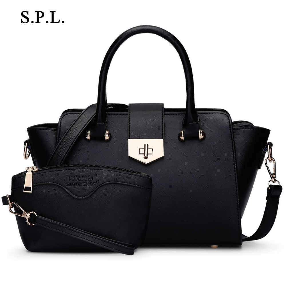 S.P.L. brand shoulder women bag trapeze handbags ladies hasp zipper luxury messenger bag bolsas leather handbags<br>