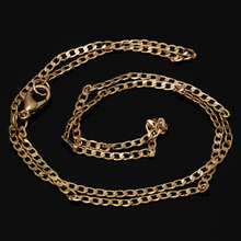 "Wholesale 10 PCS Flat Necklace Chain 18"" Rose Gold Filled Chain Flat Curb Necklace Sets for Pendant Jewelry -10050306"