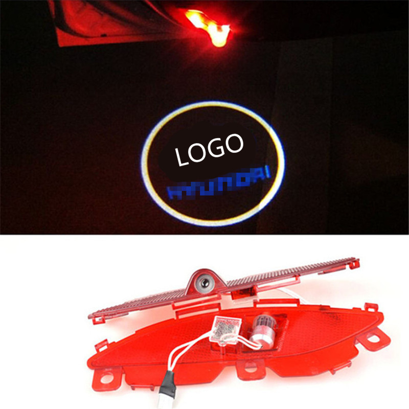 LED Car door Welcome laser projector Logo Courtesy Ghost Shadow Light For For Hyundai Santafe IX45 2013-2016<br><br>Aliexpress