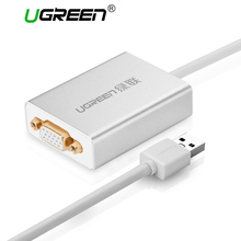 Ugreen USB to VGA Adapter External USB 2.0 VGA Multi-Display Adapter Male to Female Projector Connector Converter USB VGA