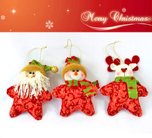 3pcs/set Christmas Tree Decoration Christmas New Year Supplies Santa Claus Snowman Deer Doll Christmas Tree Hanging Ornaments
