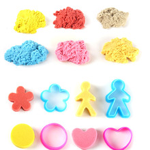 100G Magic Learning Sand Knetsand Supersand Therapiesand Polymer Clay For Kids Education DIY Toys FJ88