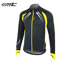 SANTIC Cycling Fleece Thermal Long Jersey Winter Jacket Windproof Bicycle Coat Outdoor Bike Jersey Cycling Clothing Coat Jacket(China)