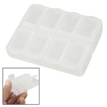 5 X Hot! Clear Daily Weekly Double Tablet Pill Medicine Box Holder Storage Organizer Case
