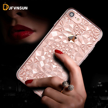 For iPhone 6 6S 4.7inch 3D Floral Henna Paisley TPU Case for iPhone 6 PLUS 5.5inch SE 5 5S Soft Silicone Flower Crystal Covers