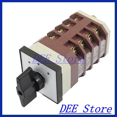 AC 380V 16A 16 Terminals 3 Positions Rotary Selector Cam Changeover Switch<br><br>Aliexpress