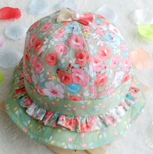 Free Shipping!2016 New Toddler Infant Bowknot Floral Pearls sun cap Spring Summer Outdoor Baby girls sun Beach Bucket Hat