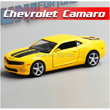 Chevrolet Camaro Sports Car Bumblebee 1:36 5Inch Diecast Metal Alloy Cars Toy Pull Back Car As Gift For Kids