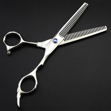 new professional Japan 440c 6 inch twofold Thinning hair scissors makeup haircut hot shears barber tools hairdressing scissors