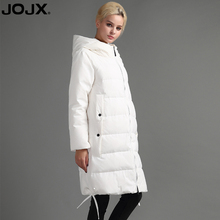 JOJX 2017 High Quality Winter Women down Jacket 90% White Duck Down Parka Fashion Hooded Long Warm Down Jacket Slim Coat(China)