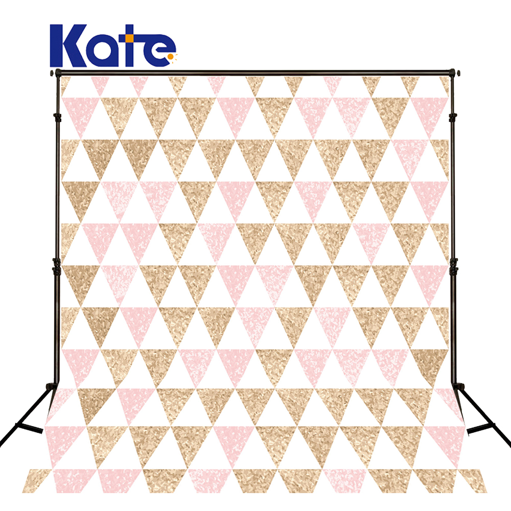 Kate Backgrounds For Photo Studio Light-Colored Triangle For Children Kate Photographic Background Pink Photography Backdrops<br>