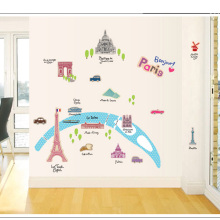 candiway Paris , France Wall Sticker Room grils Home Decor Nursery Wall Decal Poster Deco poster Home Decoration 60*90cm NE115(China)