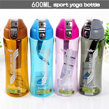 Fashionable Outdoor Yoga Sports Bottle No Leak Colorful Shaker Plastic Travel Cute with Tea Infuser My Bottles