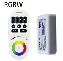 DC12-24A Milight 2.4G Wireless Touch screen RGBW LED Controller With RF remote control for 5050 3528 RGBW Led Strip Ribbon Tape(China)