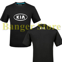 KIA t shirt Auto 4S shop T shirt tooling Owners Group logo customized logo Summer for women and men