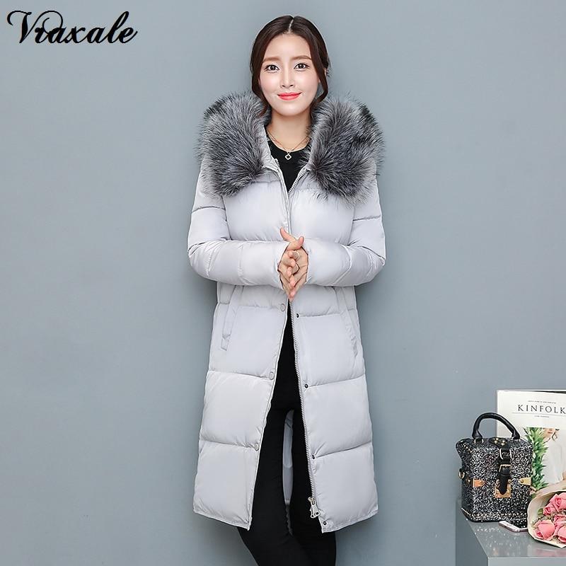 Vraxale Winter New Womens Parkas Female Medium-long Thickening Warm Large Fur Collar Cotton-padded Jacket OuterwearÎäåæäà è àêñåññóàðû<br><br>