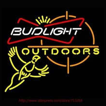 Bud Light Outdoors Pheasant Hunting Neon Sign Handcrafted Neon Bulbs Real Glass Tube Room Decorat Garage Sign Neon Lights 24x20(China)