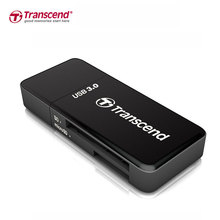 Transcend SD Card Reader Super Speed USB 3.0 Micro SD TF Memory Card Reader Max Support 128GB for Computer USB 3.0 Card Readers