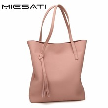 MIESATI New Bucket Handbags Eco Daily Female Single Shoulder Shopping Tote Women Beach Travel Messenger Bucket Tassel Pink Bags(China)