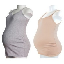New Women Strappy Vest Tank Tops Camisole Maternity Pregnant Casual T Shirt For Pregnant Woman(China)