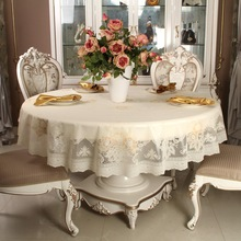 Hight Grade New Style Pastoral Peony PVC Table Cloth Non Wash Oilproof Waterproof  Plastic Table Cloth Home Hotel Table Cloth